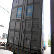 Equipment from China. Shipping containers and cargo